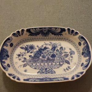 Takahashi blue  basket  dish.